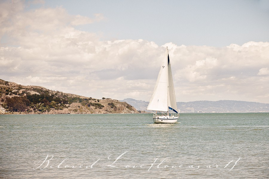destination fine art wedding photography san francisco bay sailboat © beloved love photography #loveasart