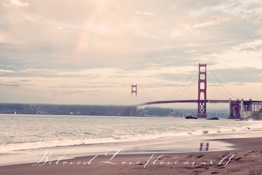 fine art wedding photographer golden gate bridge from baker beach © beloved love photography #loveasart