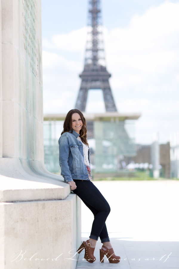 paris senior portrait photographer eiffel tower #loveasart ©beloved love photography