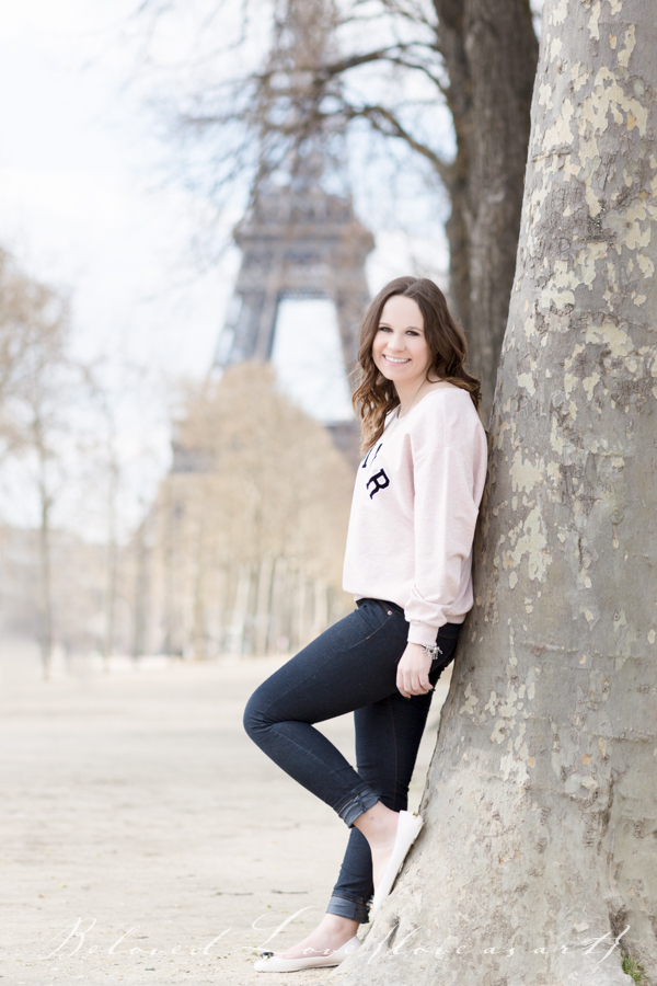 paris senior portrait photographer eiffel tower #loveasart ©belovedlovephotography